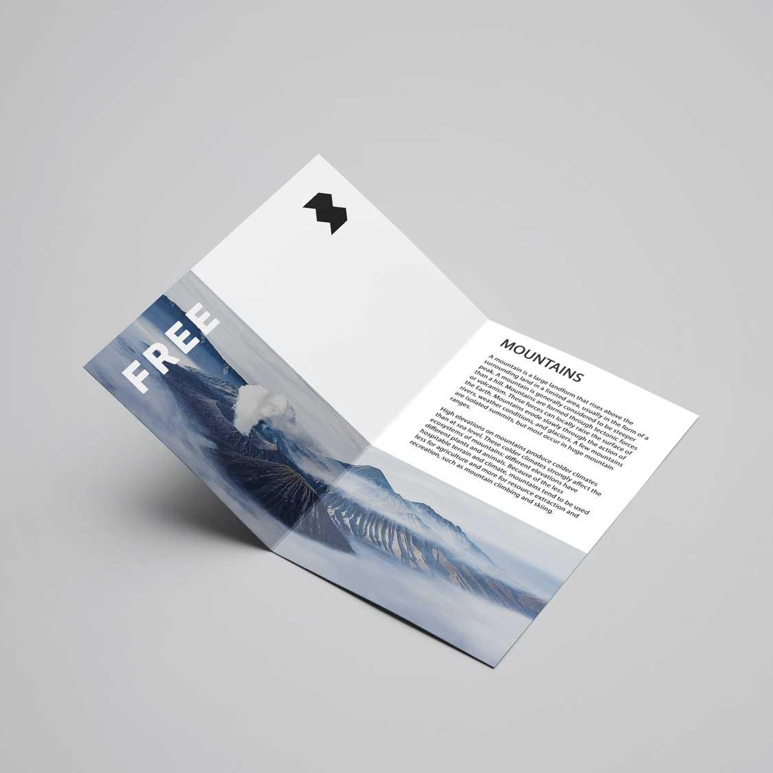 Half Folded A4 4pp Leaflet & Flyer