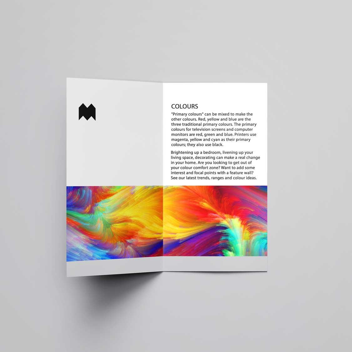 Half Folded A5 4pp Leaflet & Flyer