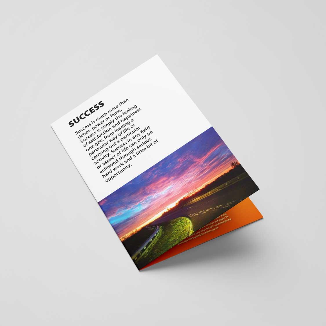 Half Folded A6 4pp Leaflet & Flyer