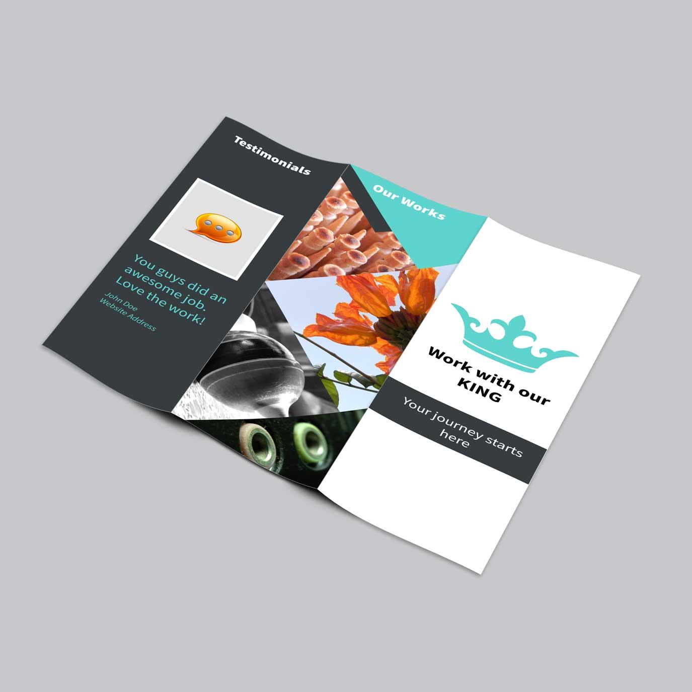 Roll Folded 140x297 6pp Leaflet & Flyer